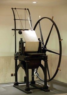 Penny Black Printing Press in a British Library Hallway (London, England) | by takomabibelot