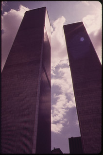 Towers of the World Trade Center in Lower Manhattan Seen From West Street 05/1973 | by The U.S. National Archives