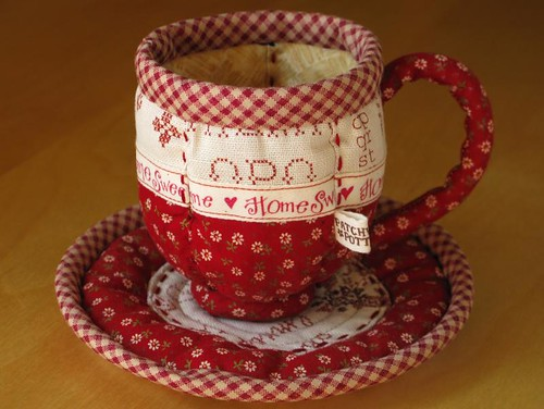 Quilted Teacup 12 | by PatchworkPottery