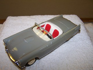 1955 Ford Thunderbird Promo Model Car - Dove Gray | by coconv