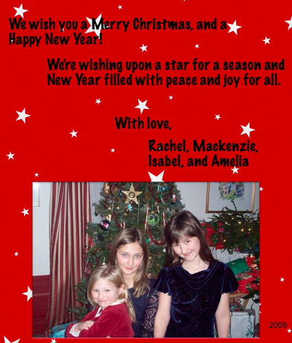 2009 Christmas Card | by mia3mom