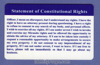 Statement of Constitutional Rights freedom  ID Card | by identity.props