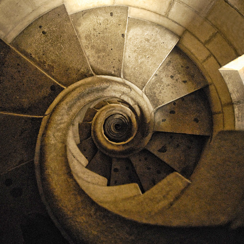 Spain - Barcelona - Sagrada Familia - Spiral Stairs - sq - straight | by Darrell Godliman
