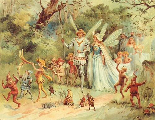 """The Arrival of the King & Queen of Fairies"" - E Stuart Hardy"