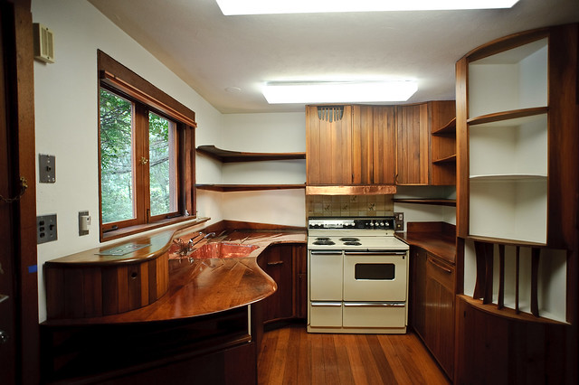 Margaret Esherick House Kitchen designed by Wharton Esherick. Photo by Jon Reksten via Flickr.