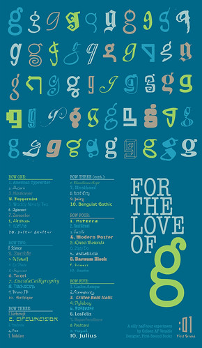 Quick Tribute and Study of :01 Designer's Favorite Letter | by firstsecondbooks