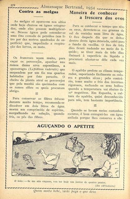 Almanaque Bertrand, 1934 - 70