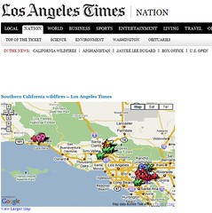 LA Times Fire Map | by search-engine-land