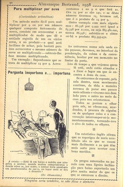 Almanaque Bertrand, 1938 - L. B. Martin 8