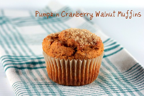 Pumpkin Cranberry Walnut Muffins | by Food Librarian