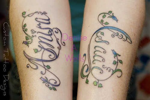 Fancy Script Lettering Tattoo designs by Denise A. Wells | by ♥Denise A. Wells♥