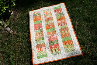 Orange & Green Baby Coin Quilt | by alissahcarlton