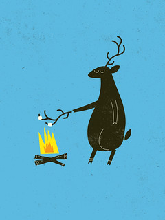 deer roasting marshmallows | by Laser Bread