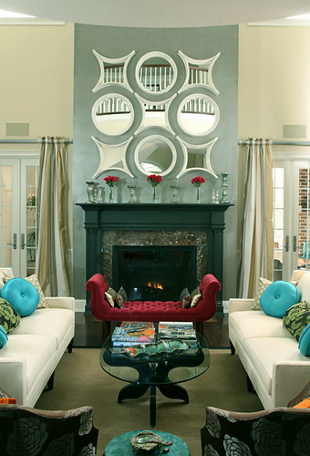 Living Room with Modern Regency Style | by DesignFolly.com