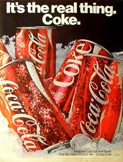 1970 Coca Cola Vintage Soda COKE Advertisement IT'S THE REAL THING | by Christian Montone