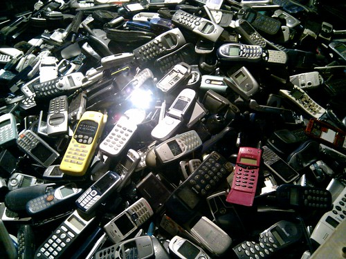 Cell phone pile @ CCCB | by ario_
