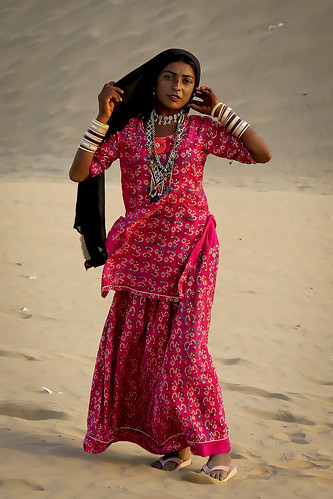 Girl in the Thar desert | by Steven Goethals