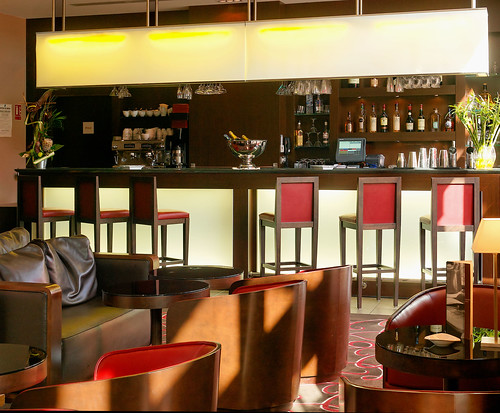 Back Stage Bar from the Hotel de la Cité, Lyon, France | by Concorde Hotels Resorts