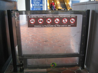 Metro Prohibited Items Sign | by herzogbr