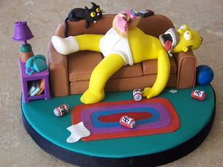 Homer Simpson passed out | by Erin Salerno