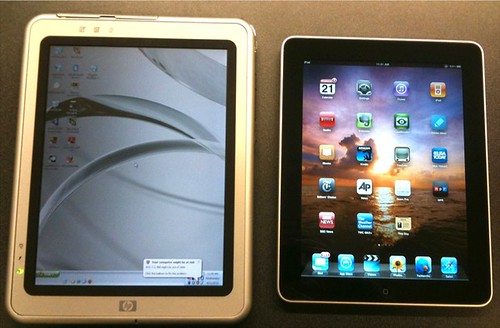 HP Tablet PC (from 2003) and iPad | by jasonhiner