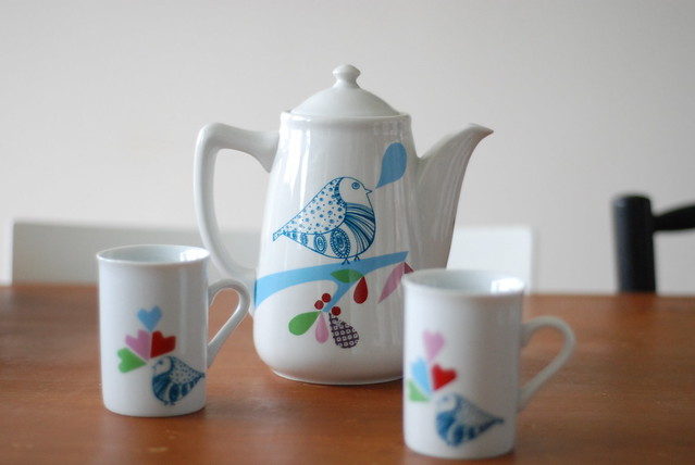 Custom made teapot & mugs set