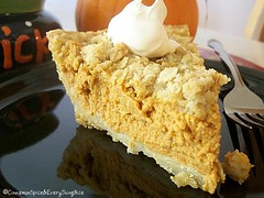 Pumpkin Mousse Streusel Pie | by CinnamonKitchn