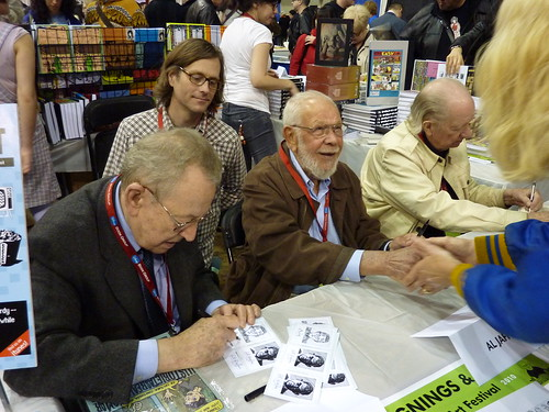 Arnold Roth, Al Jaffee & Gahan Wilson, MoCCA Art Festival, April 10, 2010 | by fantagraphics