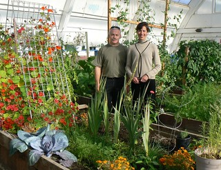 NWT Executive Regional Director Peter Clarkson and Consul General Lochman at the Inuvik Community Greenhouse | by US Embassy Canada