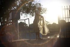 -lens flare对着太阳
