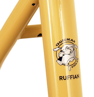 Seat Tube on Gunnar Ruffian Single Speed in Bamboo with Black Bullseye Decals. | by Gunnar Cycles