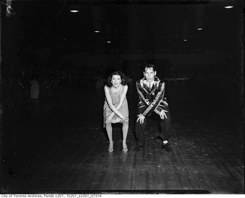 Couple dancing, Maple Leaf Gardens