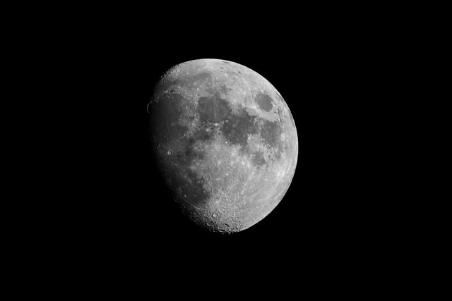 Moon with 1000mm lens