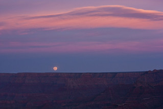 Moonrise from Shoshone Point