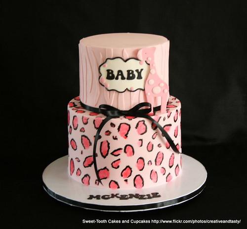 Giraffe Baby Shower Diaper Cakes