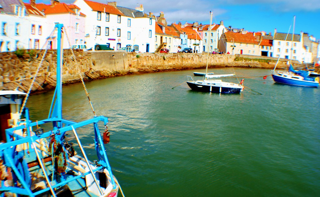 St Monans Harbour, Fife, Scotland