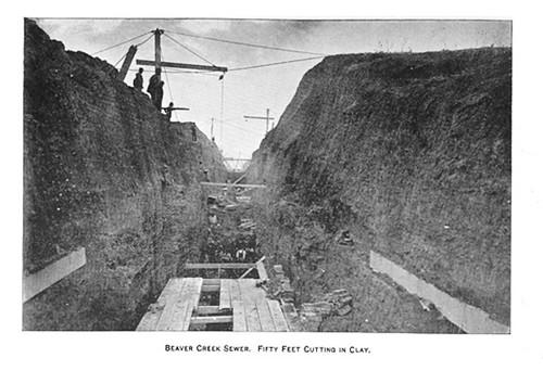Beaver Creek Sewer System  c 1896  Albany ny