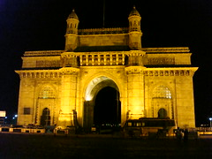 Bombay by night - Gateway of India