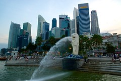 Merlion with Central Business District