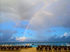 Cayman Islands almost double rainbow