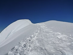 Tocllaraju summit ridge