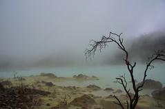 Sulphur sand in Kawah Putih