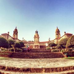 The Union Buildings, embracing us all / #UnionBuildings #symmetry #monument #SouthAfrica #Pretoria #architecture #ilovepretoria #archilovers #wideangle #sunset #city #urban #latergram