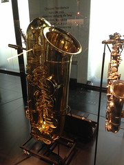 Ginormous saxophone at the Musical Instrument Museum