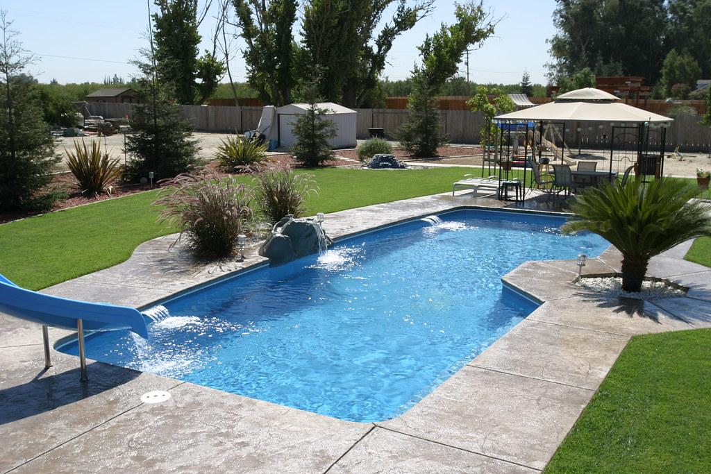 Viking pools poseidon model custom inground fiberglass for Viking pools