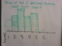 which of the 6 sketches showed your best idea? | by bschmove