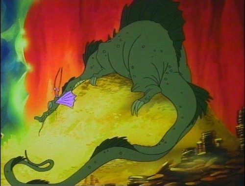 Don bluth dragon 39 s lair singe the dragon cels flickr for Dragon s lair
