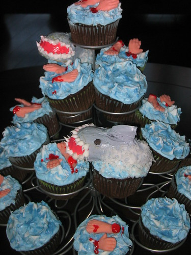 Shark Attack Cupcakes | by Moogieland