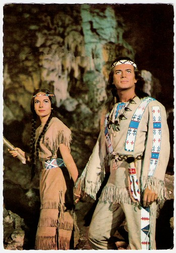 Karin Dor and Pierre Brice in Winnetou II (1964)