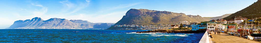 Panorama from Kalk Bay harbour wall